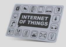 3 dimensional illustration of internet of things objects Royalty Free Stock Photo