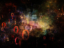 Dimensional Life of Numbers Stock Photos