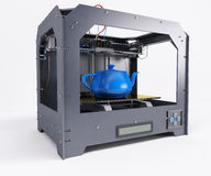 3 Dimensional  Printer. 3D Render of 3 Dimensional  Printer Stock Image