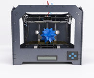 3 Dimensional  Printer. 3D Render of 3 Dimensional  Printer Royalty Free Stock Photos