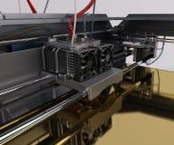3 Dimensional  Printer. 3D Render of 3 Dimensional  Printer Royalty Free Stock Images