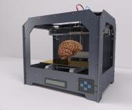 3 Dimensional  Printer. 3D Render of 3 Dimensional  Printer Stock Images