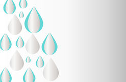 Dimensional raindrop desktop wallpaper, dimensional raindrop vector, background vector Royalty Free Stock Images