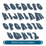 Dimensional shift letters with rotation effect, creative geometr Stock Images