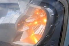 Dimensional taillights samochód i reflektory obraz stock