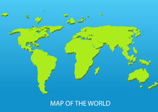 Dimensional world map Royalty Free Stock Photography