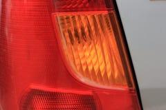 Dimensionale koplampen en achterlichten van de auto Stock Foto's