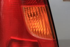 Dimensionale koplampen en achterlichten van de auto Stock Afbeelding