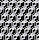 Dimensionale kubussenachtergrond Stock Afbeeldingen
