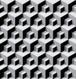 Dimensionale kubussenachtergrond Stock Fotografie