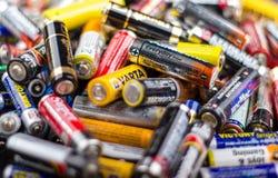 Dimensione delle batterie aa Fotografia Stock