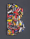 Dimensione delle batterie aa Immagine Stock Libera da Diritti