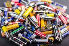Dimensione delle batterie aa Immagine Stock