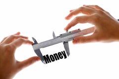 Dimensione di soldi Fotografia Stock Libera da Diritti