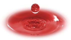 dimensionell droppe tre för blod Arkivbild