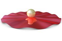 dimensionell guld- röd slabsphere tre Arkivfoto