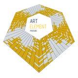 Dimensionell vektordesign av fyrkantiga tegelplattor f?r stor konstn?rlig mosaik, abstrakt bakgrund 3d som mall med kopieringsutr stock illustrationer