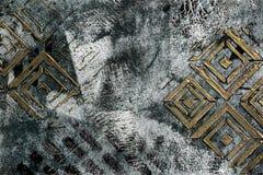 Dimensionella fyrkanter på en kricka, svartvit abstrakt bakgrund royaltyfria foton