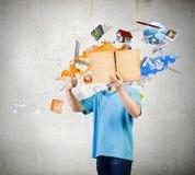 dimensionellt diagram illustrationman tre för härlig bok 3d mycket Fotografering för Bildbyråer
