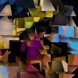 Dimensionellt färgrikt abstrakt begrepp Arkivfoton