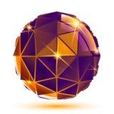 Dimensionellt futuristiskt brusandeobjekt för vektor som är ljust vektor illustrationer