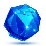 Dimensionellt geometriskt objekt för plast- korn vektor illustrationer