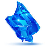 Dimensionellt objekt för ljust plast- PIXEL som är geometriskt royaltyfri illustrationer