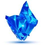 Dimensionellt objekt för modernt plast- PIXEL som skapas från geome vektor illustrationer