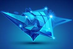Dimensionellt objekt för plast- korn som skapas från geometriska diagram, royaltyfri illustrationer
