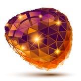 Dimensionellt objekt för plast- PIXEL, geometrisk beståndsdel royaltyfri illustrationer