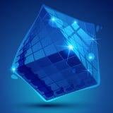 Dimensionellt objekt för plast- PIXEL, syntetmaterial vektor illustrationer