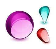 Dimensiones de una variable abstractas del aqua ilustración del vector