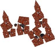 Dimensiones de una variable abstractas del fractal Fotografía de archivo libre de regalías