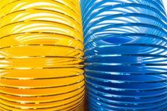 Dimensiones de una variable amarillo y azul Imagen de archivo libre de regalías