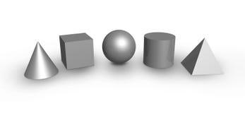Dimensiones de una variable básicas Imágenes de archivo libres de regalías