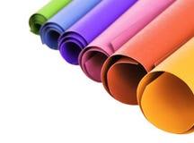 Dimensiones de una variable circulares del papel colorido Foto de archivo libre de regalías