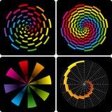 Dimensiones de una variable coloridas abstractas. Vector. Fotos de archivo