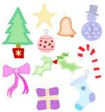 Dimensiones de una variable de Appliqué de la Navidad Imagen de archivo libre de regalías