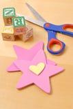 Dimensiones de una variable de la estrella y del corazón Fotos de archivo libres de regalías