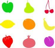 Dimensiones de una variable de la fruta Imágenes de archivo libres de regalías