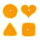 Dimensiones de una variable de la fruta anaranjada Fotografía de archivo
