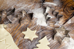 Dimensiones de una variable de la galleta de azúcar de la Navidad Foto de archivo