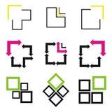 Dimensiones de una variable de la insignia del asunto Imagen de archivo