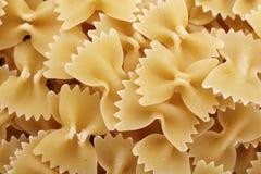 Formas de las pastas de Farfalle imagen de archivo libre de regalías
