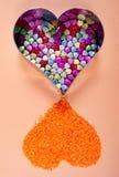 Dimensiones de una variable decorativas del corazón Foto de archivo libre de regalías