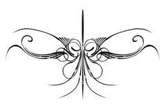 Dimensiones de una variable decorativas del ornamento Imagenes de archivo