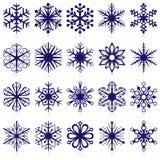 Dimensiones de una variable del copo de nieve Imágenes de archivo libres de regalías