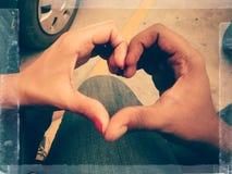 Dimensiones de una variable del corazón Foto de archivo