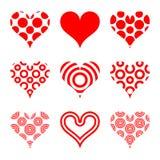 Dimensiones de una variable del corazón Foto de archivo libre de regalías