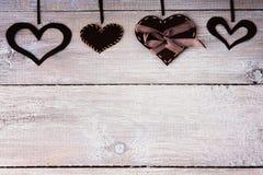 Dimensiones de una variable del corazón Imagen de archivo libre de regalías